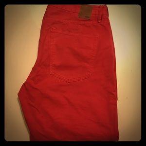 Gap Men's Red Slim Fit Jeans 34X30
