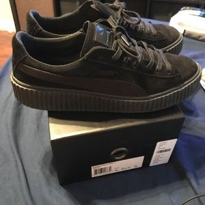 Puma Shoes - Rihanna FENTY x Puma Men s Black Suede Creeper f76a3b607