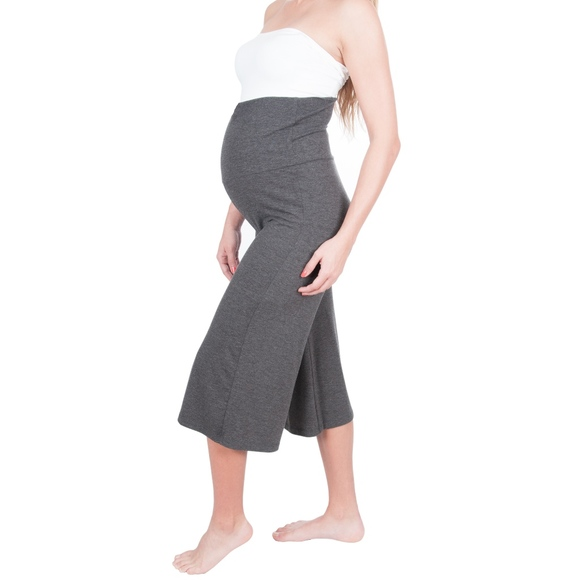 My Bella Mama Pants Jumpsuits Maternity Yoga Gaucho Capri Pants Wide Leg Poshmark