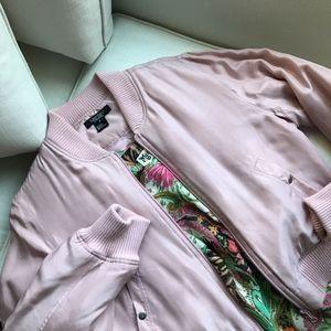 Karen Kane washable silk bomber jacket