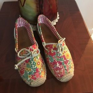 Sperry top-sider floral shoes