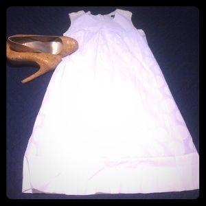 Adorable white polka dot dress