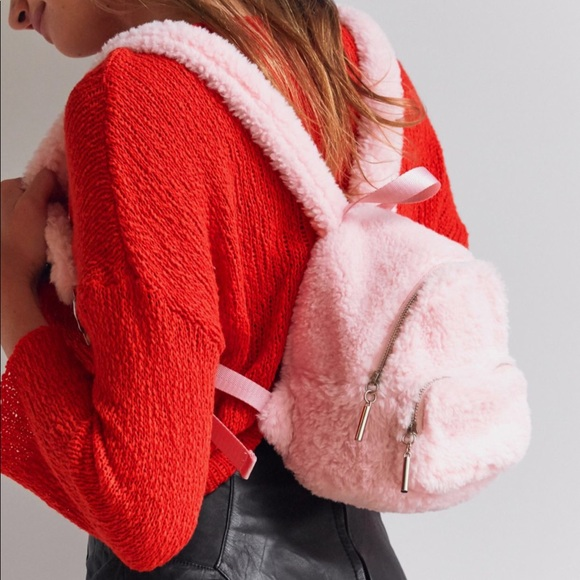 7d0f8c1329ed Fluffy Pink Mini BackPack - Urban Outfitters