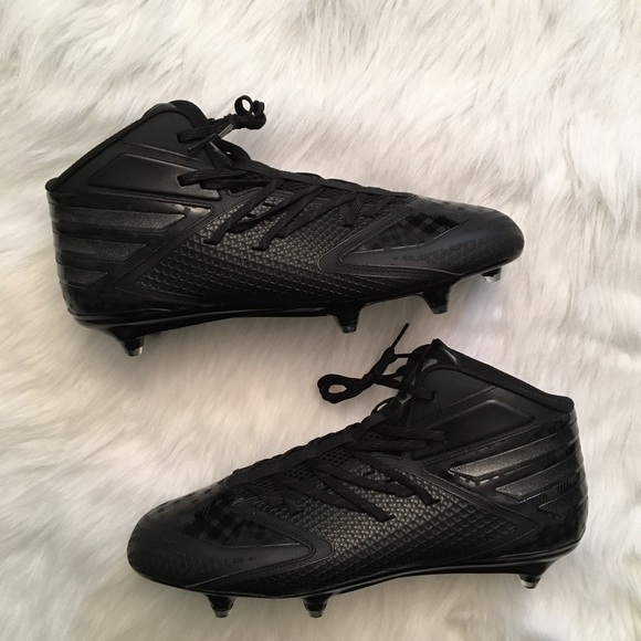 online store 2328e 7111f Adidas Freak X Carbon Mid D Football Cleats Black