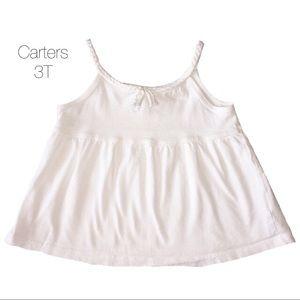 Carters White Tassle Tank Top 3T