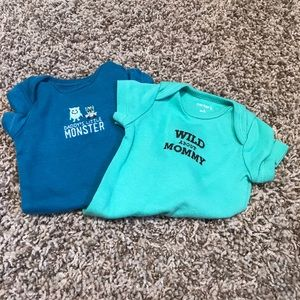Carter's Shirts & Tops - 2 Carter's mommy/daddy onesies