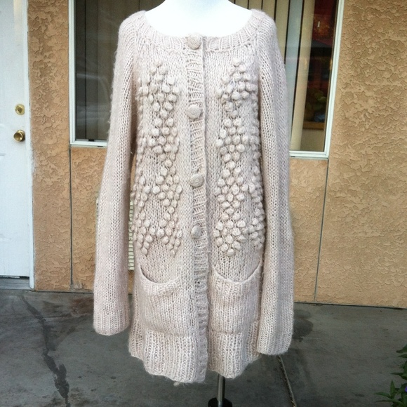 bc4aba7656d3 H&M Sweaters | Hm Chunky Knit Extra Long Sleeve Duster W Pocket ...