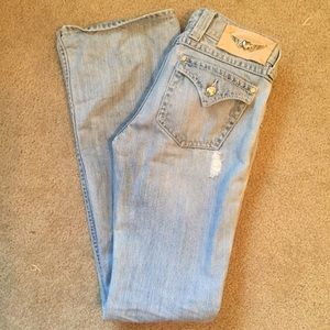 Twisted heart jeans
