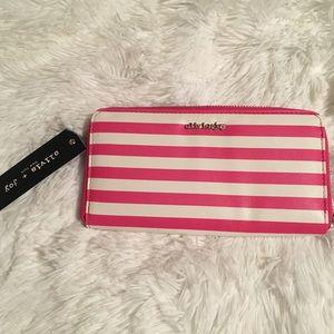 BNWT Olivia + Joy Pink Striped Wallet