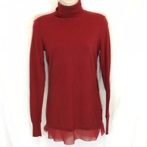 New Simply Vera Womens mock turtle neck sweater