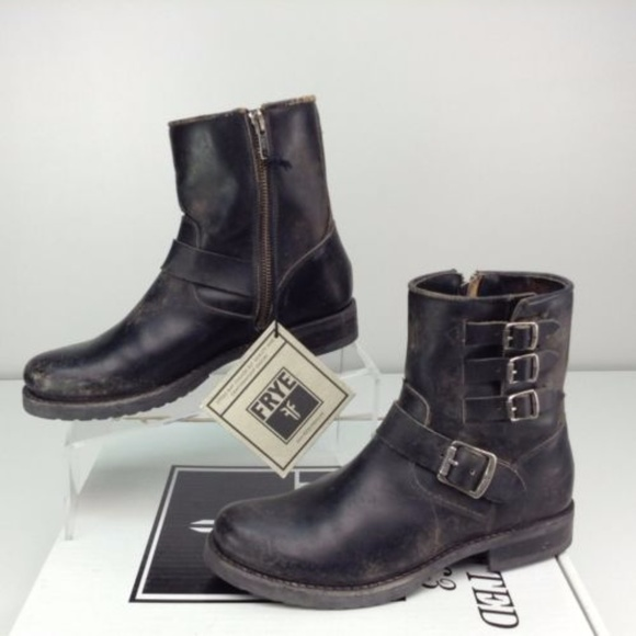 Frye Shoes Womens Veronica Belted Short Moto Boot Poshmark