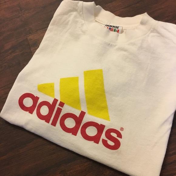 Authentic 90s Vintage Adidas Long Sleeve T Shirt L