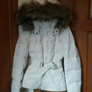 Abercrombie white Down filled Jacket