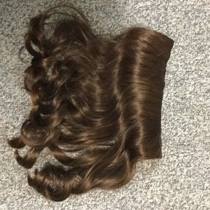 Other - 15 inch brown wavy clip in the extensions