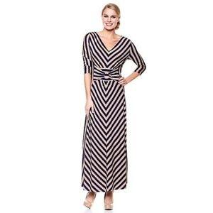 Liz lange for target high low dress grey white stripe