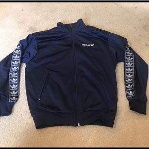 Adidas Originals track jacket with trefoil stripe