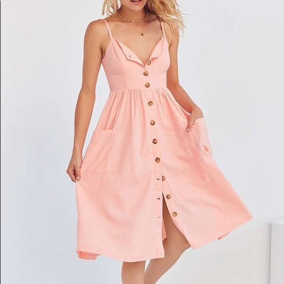 3954c162944 Cooperative Emilia Linen Button Midi Dress. M 59f0b4256d64bc0dc10117a0.  Other Dresses you may like. Urban Outfitters Causal Dress