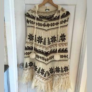 Rare wool j. Crew poncho like new