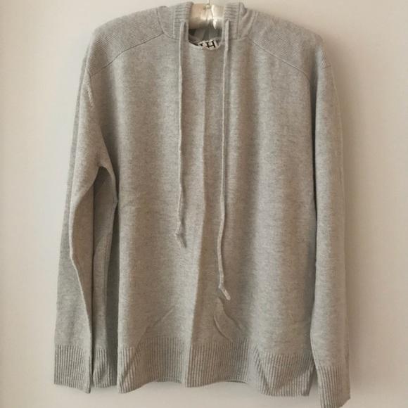 1622379751 Haute Hippie Sweaters - Haute Hippie Soft Grey Cashmere Hoodie M L