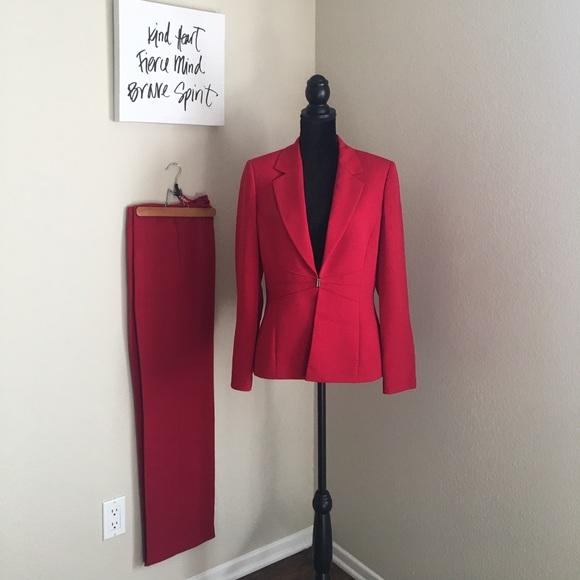 Elie Tahari Other - Tahari NWOT Professional Red Pants Suit Size 10