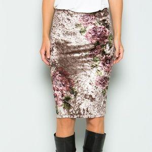 Dresses & Skirts - Velvet Pencil Skirt