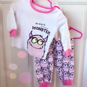 'Daddy's Little Monster' PJ Set!