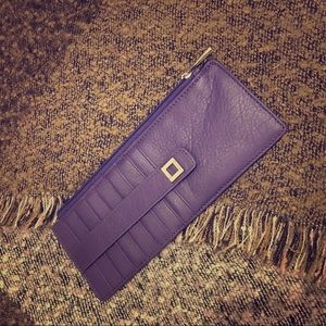 Purple Leather Lodis Wallet