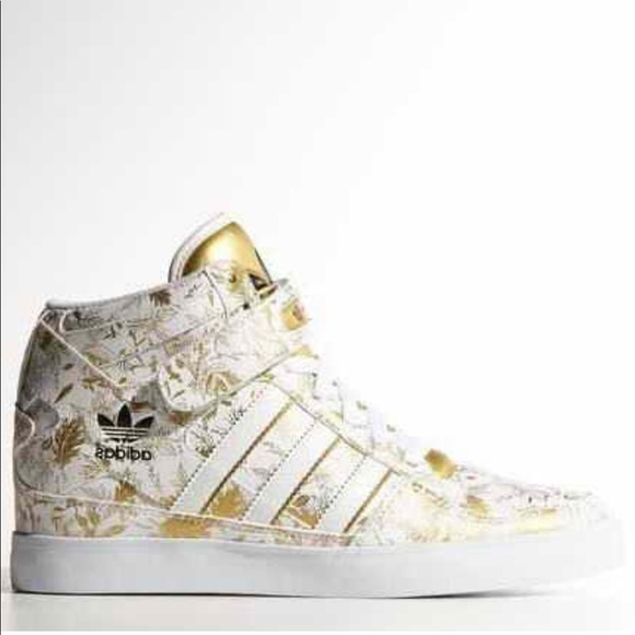 adidas Shoes - Adidas Forum Up White   Gold women s High Tops 1a4e6a9d8f