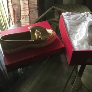 Gold Loafer from Shoe Dazzle