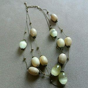 Jewelry - Multi-chain Beaded Choker Necklace