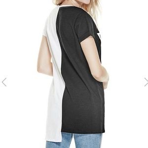 Guess Tops - Guess Reworked Longline Tee