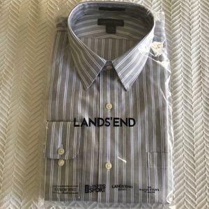 LANDS' END Dress Shirt. Size 17-34. NWT.