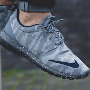 cheaper 7071c 66867 Nike Shoes - Nike Roshe NM FB Grey Camo Sneakers