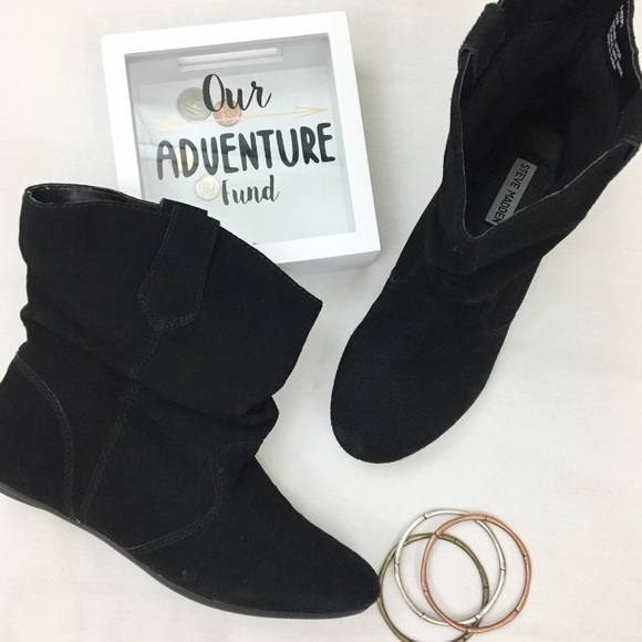 9ca59abde Steve Madden   Black Suede P-hoops Slouchy Booties.  M_59f0d3b4a88e7ddf12019ee9