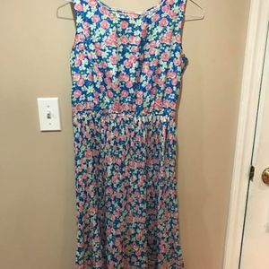 Dresses & Skirts - Floral Flower Bright Sleeveless Midi Dress