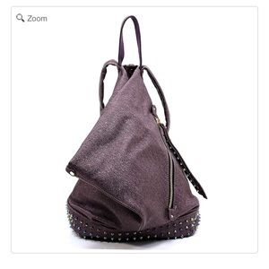 Handbags - NEW Metallic Rock Studded Backpack