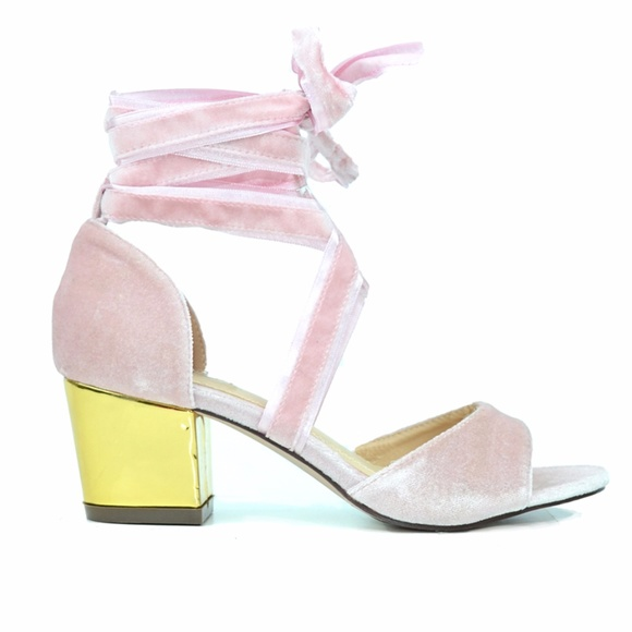 Chase & Chloe Shoes - Chase & Chloe Lotte Pink Gladiator D'orsay Sandal