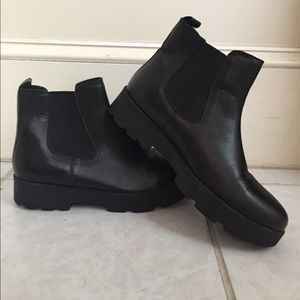 Chelsea Crew Shoes - Black chelsea chunky boots