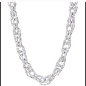 Silver crystal chain