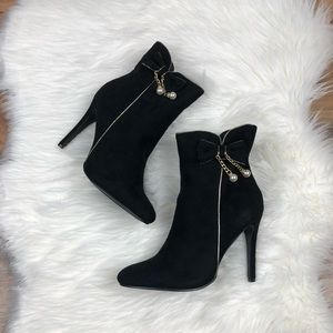 Black Bow Booties