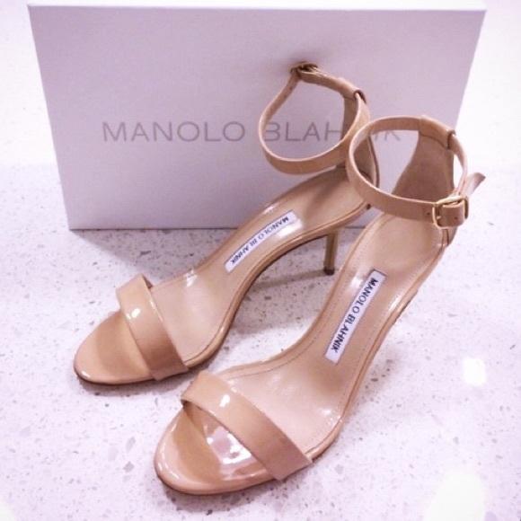 3b433095fde68 Manolo Blahnik Shoes | Nude Chaos 70 Heels Sandals | Poshmark