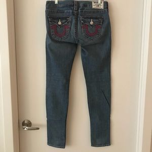 NWT True Religion Flap Pocket Skinny Jeans 28