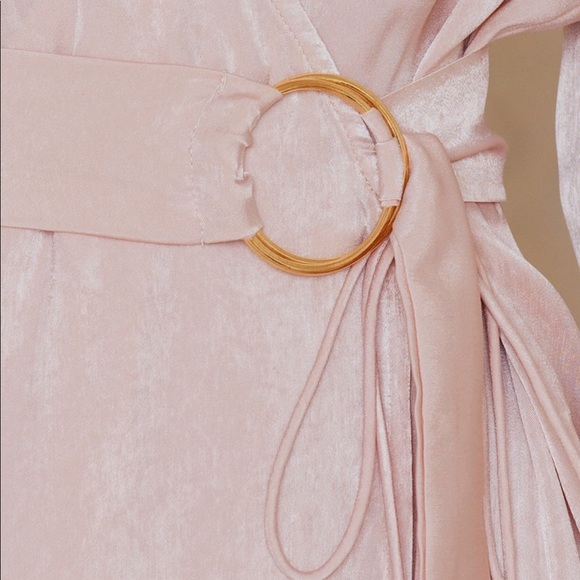 Sabo Skirt Dresses - Saboluxe A List Wrap Dress in Delicate Blush