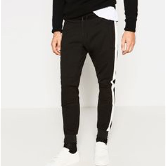 jeans with side stripe mens zara