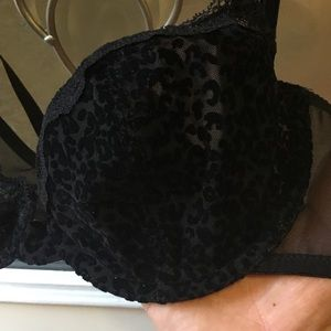 73dacf5e21 Versace Intimates   Sleepwear - Versace black leopard lace bra size 34c