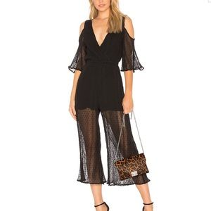 Raphael Cropped Jumpsuit in Black Minkpink