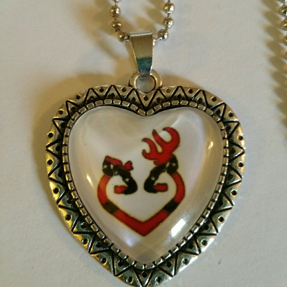 Browning Jewelry New Heart Deer Couple Necklace Poshmark