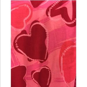 New LuLaRoe TC Heart Valentine Leggings Curvy NWOT