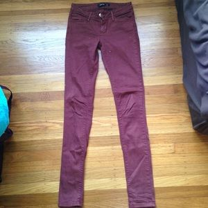 Just Jeans USA Just Black Collection Maroon Skinny
