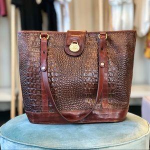 Brahmin Vintage Croc Tote Bag